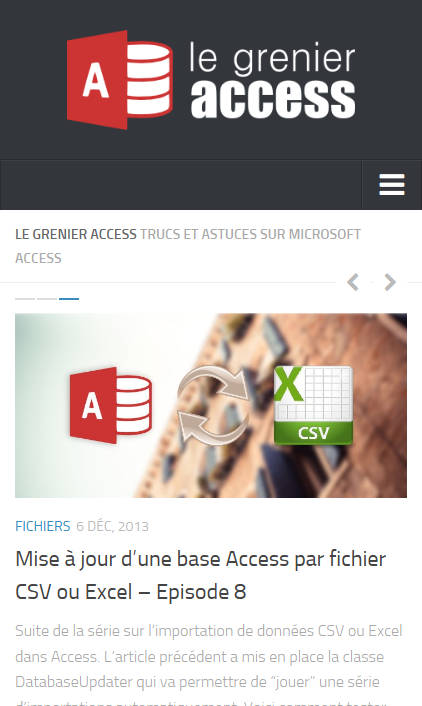 Le Grenier Access - version 3 Mobile